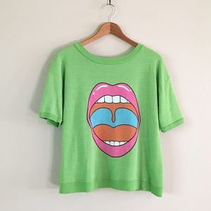 Wildfox | Groovy Lips Frenchi Top