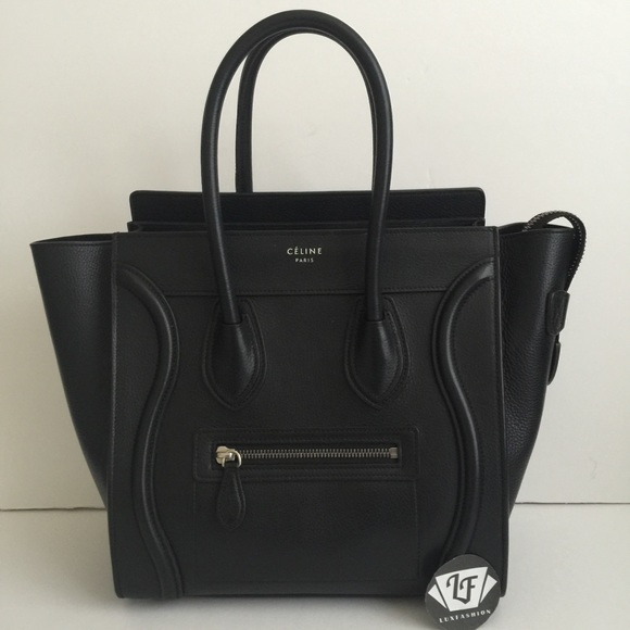 28b406a8f80 Celine Bags   Authentic Micro Luggage In Black Pebbled   Poshmark