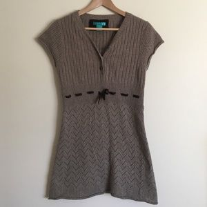 AphOrism Dresses & Skirts - Aphorism wool blend V-neck brown sweater dress