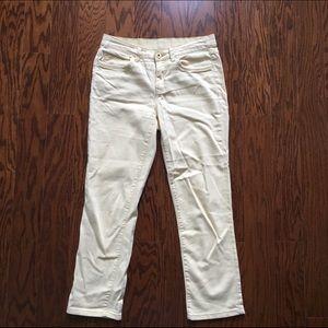 St. John's Bay Denim - Light Yellow Denim Jeans Size 4