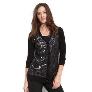 T Tahari Sweaters - 🌹HP 🆕 NWT T Tahari Black Sequin Cardigan Small