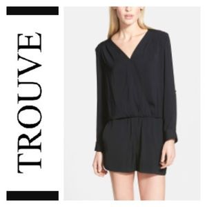 Trouve Pants - Trouve 'Surplice' Romper