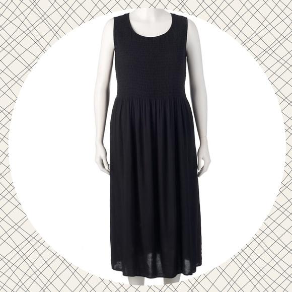 Croft Barrow Dresses Plus Size Black Tie Design Core Challis