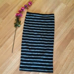Express Black and Grey  Pencil Skirt