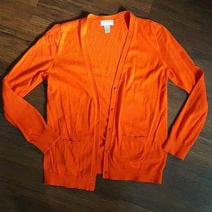Loft orange cardigan