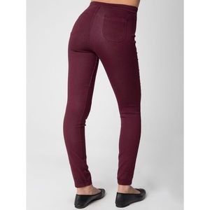 American Apparel maroon high wasted easy jeans