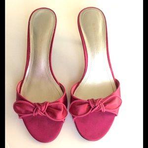 f688735d23a7e Bandolino Shoes - 🔥Bandolino 🔥Pink Satin Kitten Heel Slides 🔥