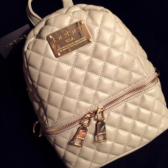 40 Off Bebe Handbags Nwt Bebe Light Gray Mini
