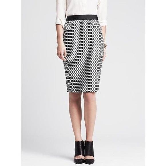 7e1bc0df59 Banana Republic Dresses & Skirts - *Moving Sale* BR Star Jacquard Pencil  Skirt