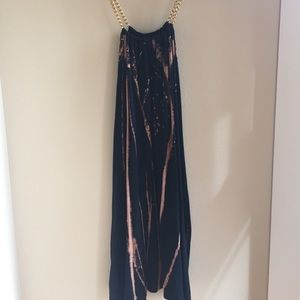 Chain strapped dress with pockets