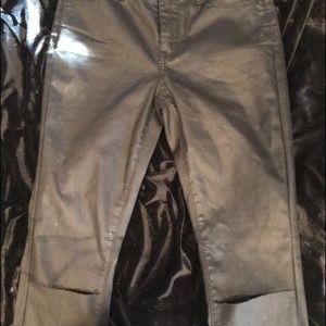 Brandy Melville Pants - ✨Leather cut-knee high waist jeans Kylie