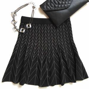Sophie Max Dresses & Skirts - {Sophie Max} Herringbone Skater Skirt