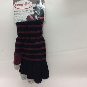Women Knit Gloves W/ Active Fingerprints 11797