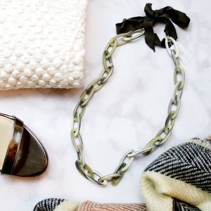 J. Crew Jewelry - Taupe Acetate Link Necklace