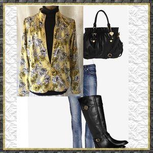 💛 Floral Zip Front Jacket