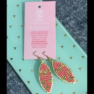 2Chic Jewelry - 💎TRENDY💎Pink & Gold Earrings