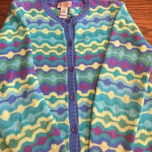 Talbots Small Multicolored Cardigan