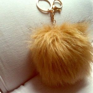 Puff ball phone chase charm