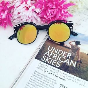 """Erica Rose Accessories - """"Aurora"""" Sunglasses    Black & Orange Mirror"""