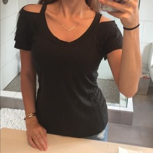 The Limitied Cold Shoulder Cutout Top