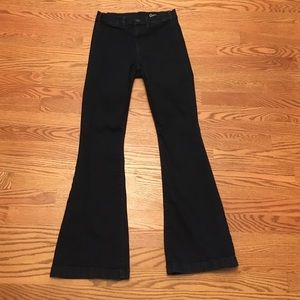 Gap Dark Wash High Waisted Flares