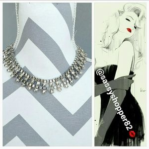 SASSY Jewelry - 💋LAST 2💋Classy silver collar necklace NWOT