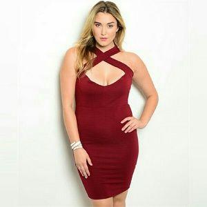 Boutique Dresses & Skirts - ❤ 🎲 [Plus] Crisscross Sweetheart Bodycon Dress