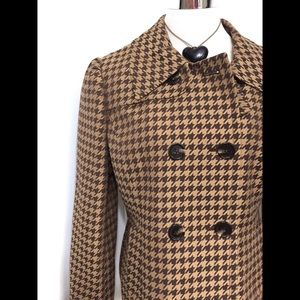 Gorgeous Houndstooth Double Breasted Jacket 12