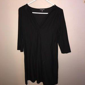 Eileen Fisher Black v neck dress