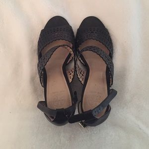 Black Tory burch wedges