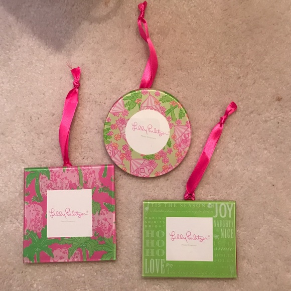 Lilly Pulitzer Accessories | Nwot Picture Frame Ornaments | Poshmark