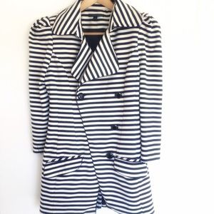 blaque market Jackets & Blazers - Blaque Label stripped trench coat