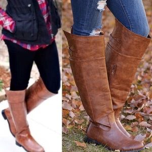 🚨1 HR SALE🚨GRAYSON riding boots - TAN