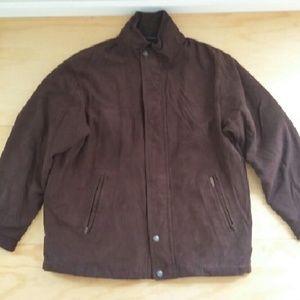 Weatherproof Other - Brown suede jacket for men