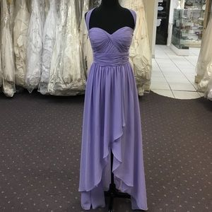 Lilac High-Low Gown