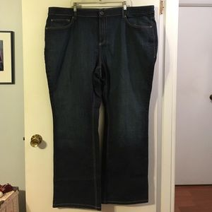 "Old Navy ""the flirt"" just below bootcut jeans"