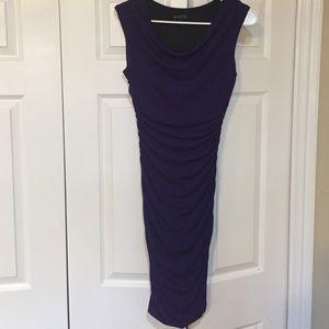 form fitting purple dress