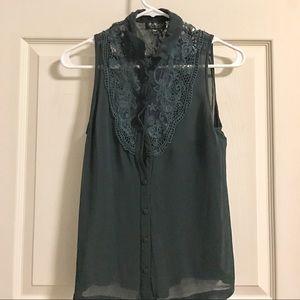 Green Top Shop lace blouse