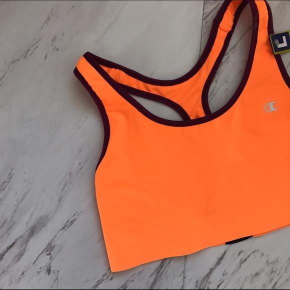 0d300dc97dff3 Orange Burgundy Champion Sports Bra