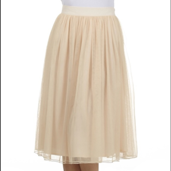 b244bc42ee Skirts | Last One Tulle Skirt Cream Midi Ballet Inspired | Poshmark