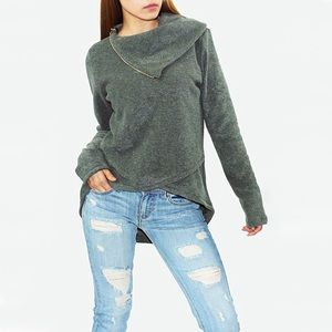 Sweaters - Cowl Neck Oversized Bohemian Top