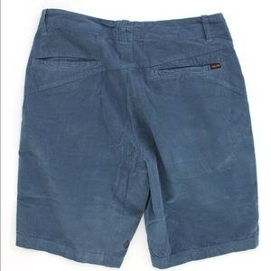 Men's volcom brand shorts in used blue corduroy