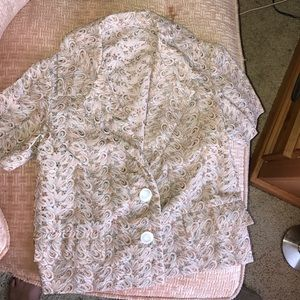 Vintage super cute blouse and skirt combo
