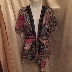 CAbi open front tunic