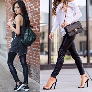 1HR SALEDEBORAH slick leggings - BLACK