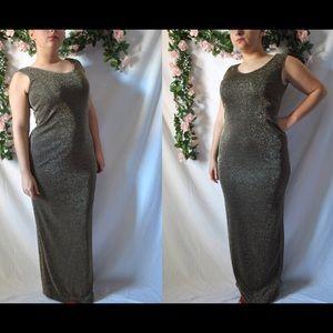 Vintage 80s Sparkly Prom Dress