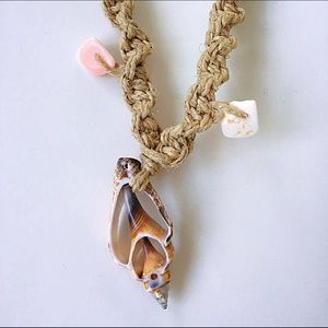 🌅📿Shell Pendant Hemp Necklace