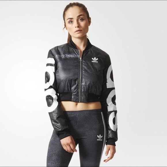a92e868aa656 Adidas Jackets   Blazers - ADIDAS Rita Ora Mystic Moon Crop Bomber Jacket