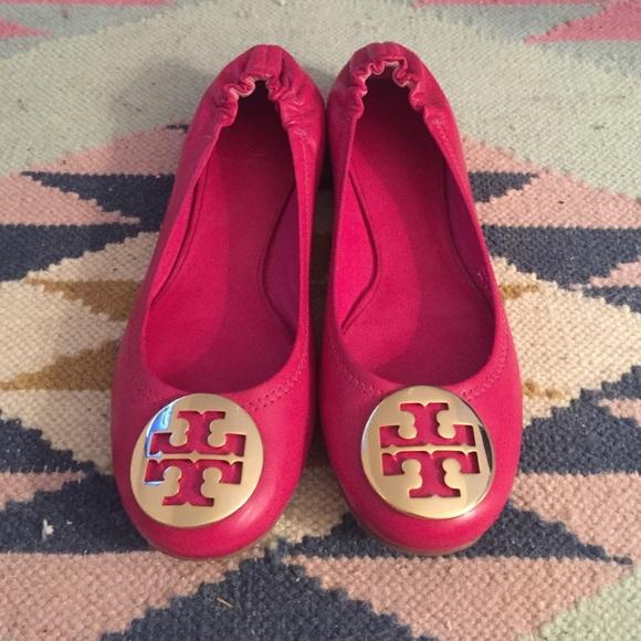 Hot Pink Tory Burch Revas | Poshmark