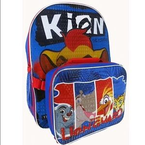 Other - Disney Lion Guard back pack w/ lunch Box
